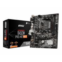 MSI B450M-PRO M2 MAX AMD AM4 mATX Gaming Motherboard
